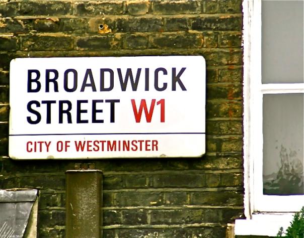 Broadwick Street Sign