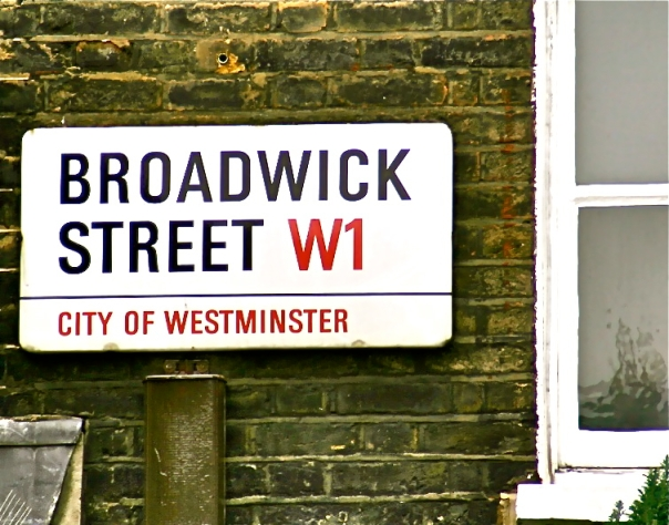 Broadwick Street Sign