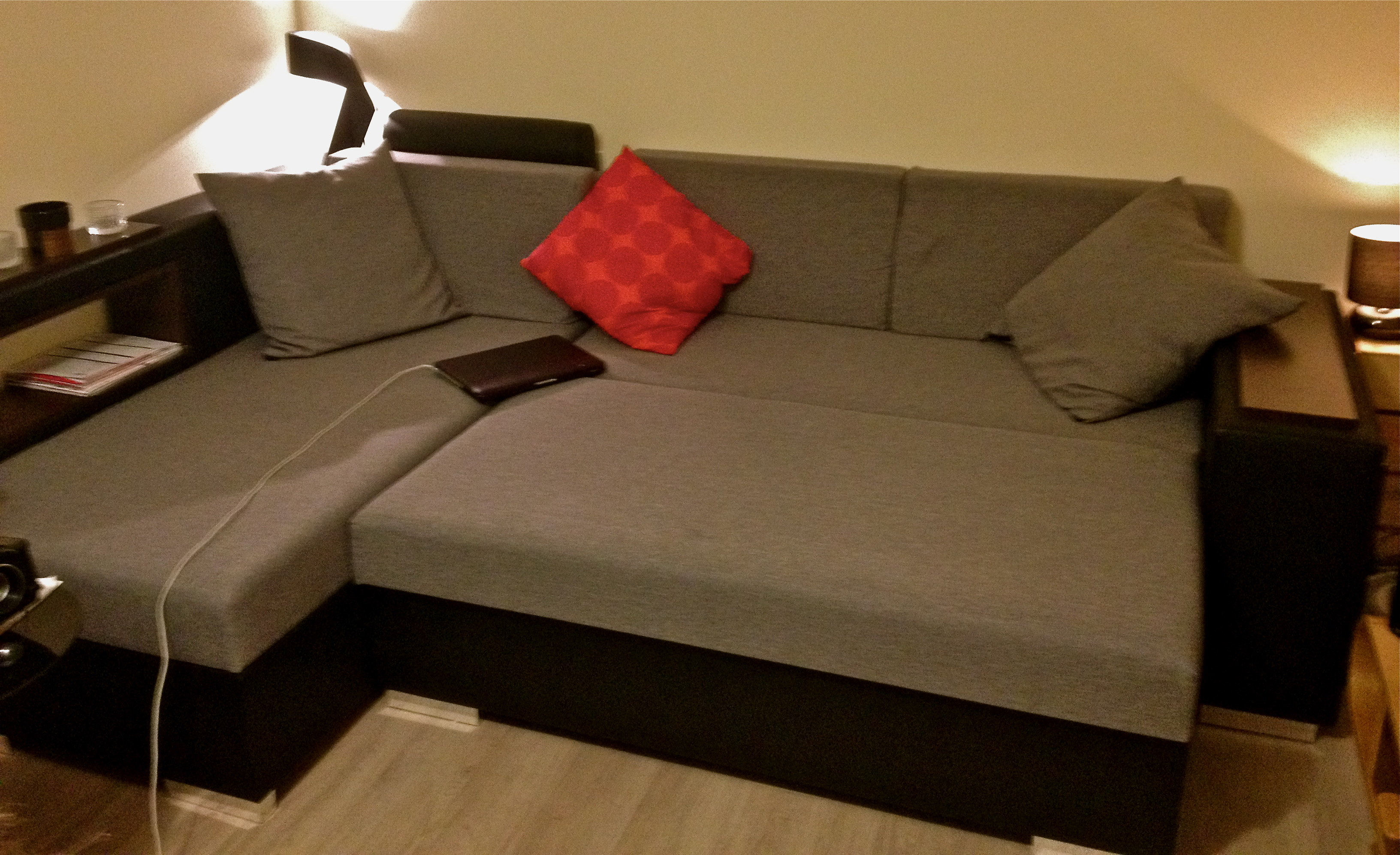 Storage Sofa Bed Multifunctional Cheap Space Saving The Colour Yellow