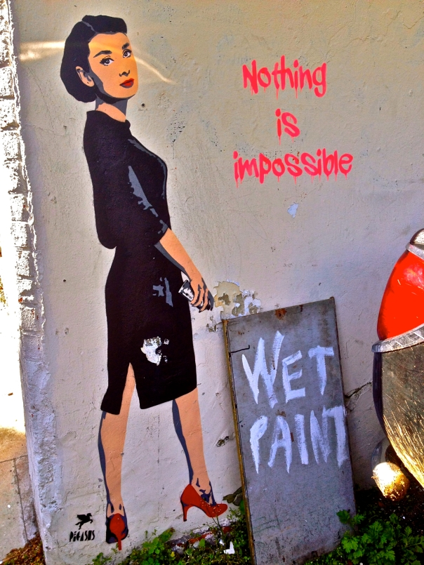 Audrey Hepburn Graffiti