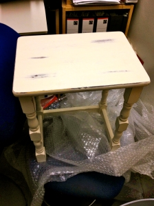 White Shabby chic. French style side table.